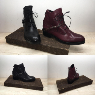belted backzip lace-up Boots
