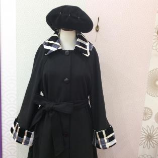ベロアリボン編みコート