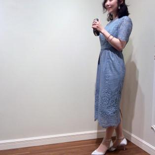 新作☆袖付きレースドレス
