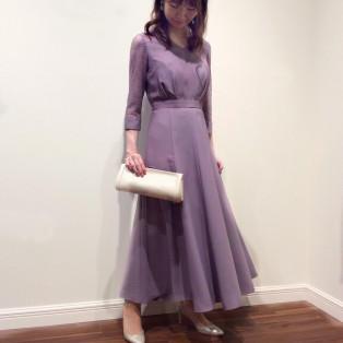 カフススリーブのエレガントドレス♡
