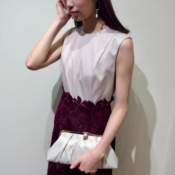 ケミカルレースのタイトドレス♡