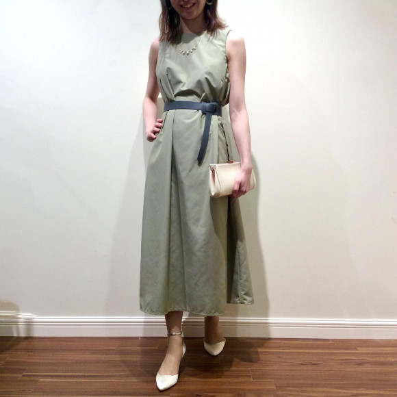 ベルト付き2wayドレス
