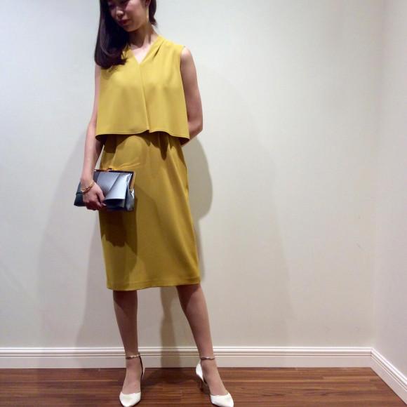 鮮やかタイトドレス☆*:.。.