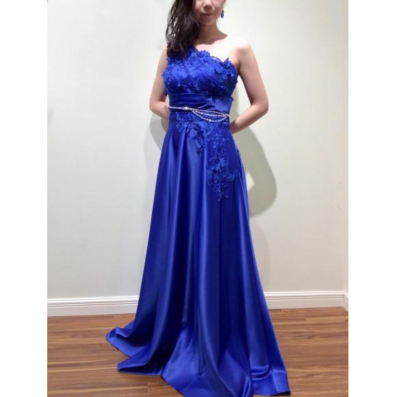 ワンショルダーロングドレス