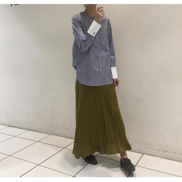 ジグザグタック フレアスカート