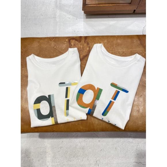 クエスチョンプリントクルーネックTシャツ