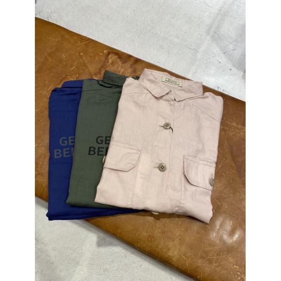 バスク 綿麻2/2綾 半袖シャツ