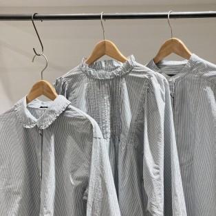 ◯4色、3型のシャツブラウスのご紹介◯