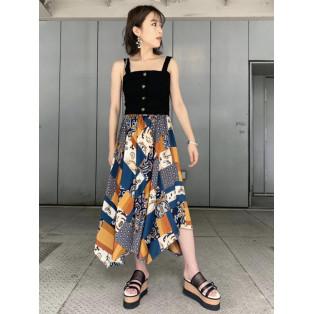 スイッチパターンフレアスカート♡