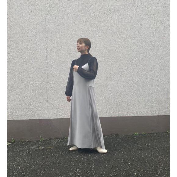 ☆サイドプリーツパイピングキャミワンピース☆