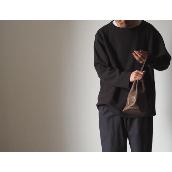 【nest Robe / CONFECT】ツイストWフェイス ボートネックプルオーバー