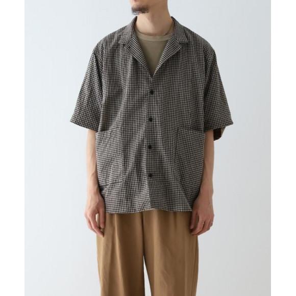 【nest Robe / CONFECT 】先染め半袖カバーシャツ