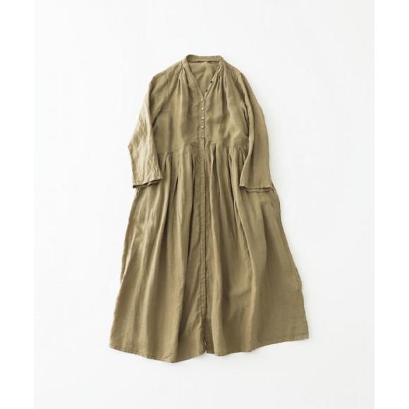【 nest Robe 】リネンYネックドレス