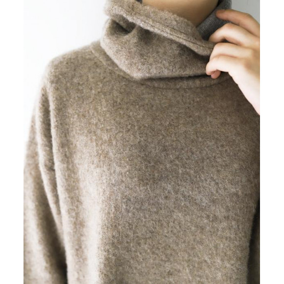 【 nest Robe 】ウール裏毛起毛タートルチュニック