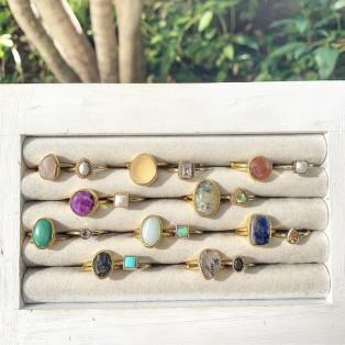 Brass 1stone × petit ring 1