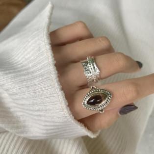 silver925 Almond design ring