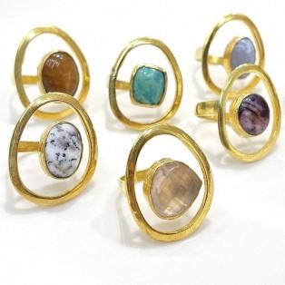 Brass design ring 1