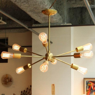 《受注生産品》SOLID BRASS LAMP 9ARM