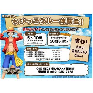 【イベント】ちびっこクルー体験会参加者募集中!