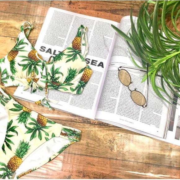 福岡・天神リゾート 水着ショップ PEAK&PINE福岡パルコ☆パイナップル柄で写真映え☆==
