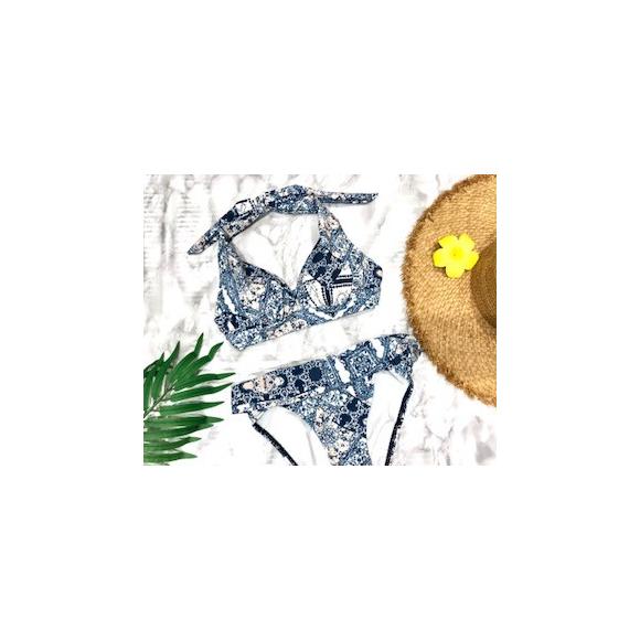 福岡・天神 リゾート 水着ショップ PEAK&PINE 福岡パルコ店☆☆=バストメイクも完璧っ!大人のエスニック柄ビキニ!★