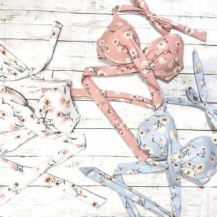 福岡・天神 リゾート 水着ショップ PEAK&PINE 福岡パルコ店☆トレンドなダスティーカラーに小花柄でフェミニンさと大人っぽさを兼ね備えたビキ二!!