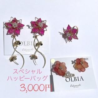 セール対象外〉【通販限定】OLBIA  スペシャルハッピーバッグ ¥3000(YW9)ピアス・イヤリング