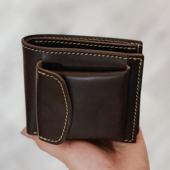 外小銭入れ付き二つ折り財布