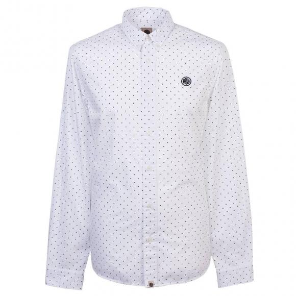 定番商品 LS HORLOCK ポルカドットプリント BDシャツ 父の日ギフトキャンペーン30%6/17日まで
