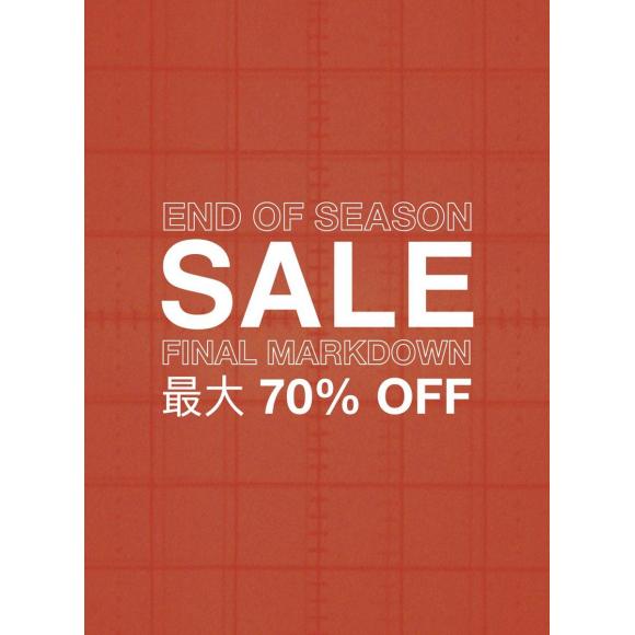 FINAL SALE up to 70%OFF!明日8/19日終了!