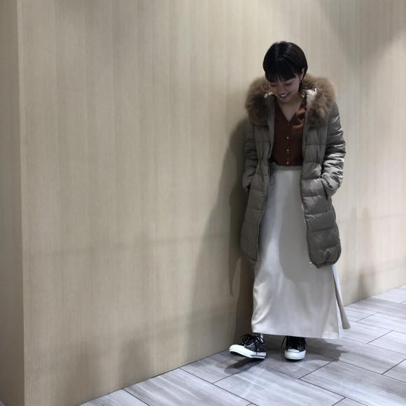 ☆ファー付きロングダウンコート
