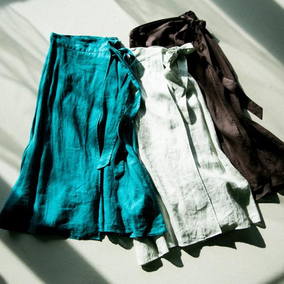 上質フレンチリネンスカートはいかがですか?