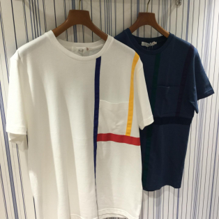 【Men's】BEAMS LIGHTS / グログランテープクルーネックTシャツ