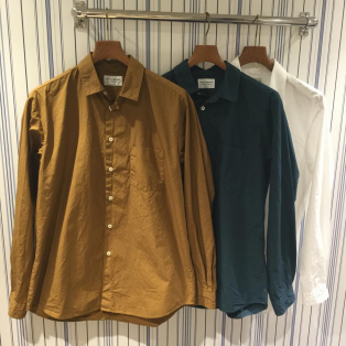 【Men's】Manual Alphabet / ルーズフィットレギュラーカラーシャツ
