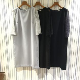 【Ladies】BEAMS LIGHTS / 袖レース ワンピース