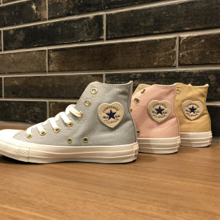 NEW!!♡ [CONVERSE ALL STAR HEARTPATCH HI]