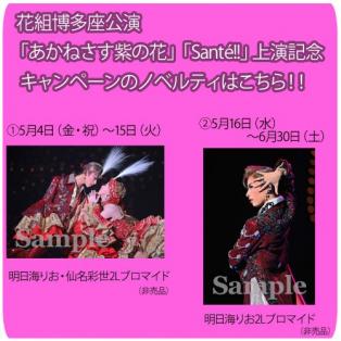 花組博多座公演『あかねさす紫の花』『Sante!!』上演記念キャンペーン