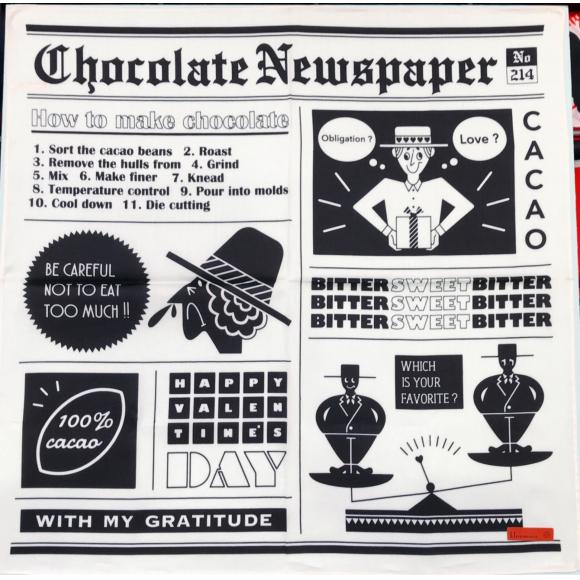コンパクトに持ち運べるあま〜い新聞♡チョコレートニュース