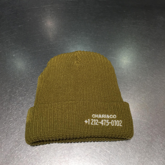 【NEW ARRIVAL】CHARI&CO  PHONE NUMBER WATCH CAP