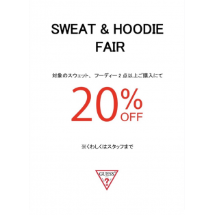 ☆SWEAT&HOODIE 2FOR 20% OFF☆