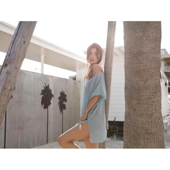 福岡・天神リゾート 水着ショップ 本館7階 Riberce福岡パルコ店☆透け感が絶妙♥無地リゾートチュニック
