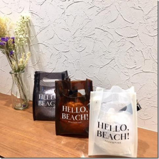福岡・天神リゾート 水着ショップ 本館4階 RiberceSTORE福岡パルコ店☆ロゴがオシャレなクリアバック★海やリゾート地にピッタリです♪