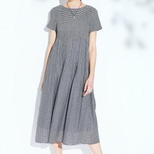 ギンガムチェックドレス