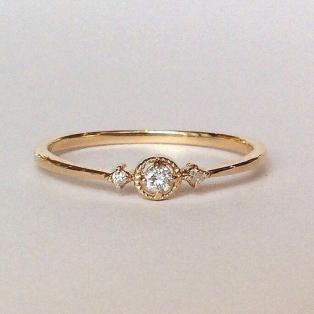 〈サークルダイヤモンド〉リング