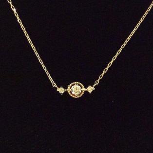 〈サークルダイヤモンド〉ネックレス