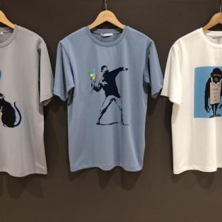 バンクシーのアートワークを使用したBRANDALISEDとのコラボレートTシャツ!