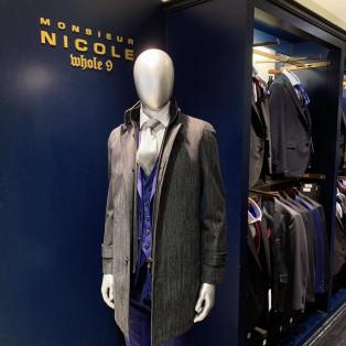 Monsieur Nicole スタンドカラーコート