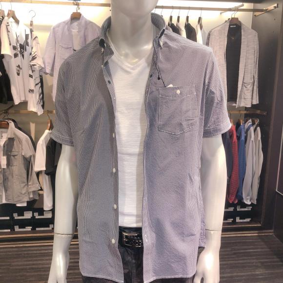 【NEW】OXIJEWELヴィンテージツイルボタンダウン半袖シャツ