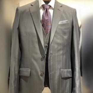 シャドーウィンドペン柄スーツ