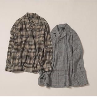 冬でも暖かく着れる開襟シャツ!